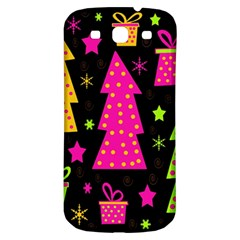 Colorful Xmas Samsung Galaxy S3 S Iii Classic Hardshell Back Case by Valentinaart