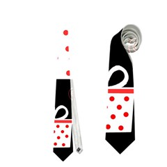 Red Playful Xmas Neckties (two Side)  by Valentinaart