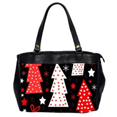 Red Playful Xmas Office Handbags (2 Sides)  by Valentinaart