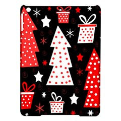 Red Playful Xmas Ipad Air Hardshell Cases by Valentinaart