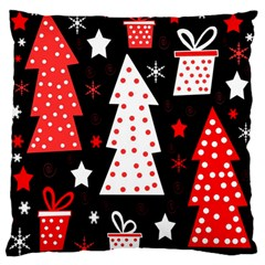 Red playful Xmas Standard Flano Cushion Case (One Side) by Valentinaart