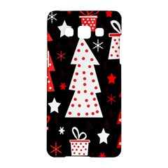 Red Playful Xmas Samsung Galaxy A5 Hardshell Case  by Valentinaart