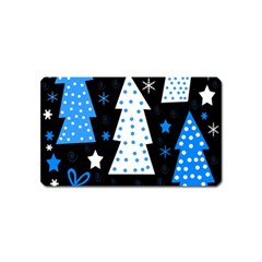Blue Playful Xmas Magnet (name Card) by Valentinaart