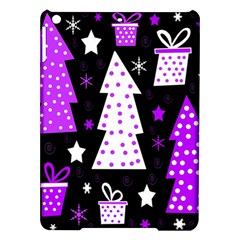 Purple Playful Xmas Ipad Air Hardshell Cases by Valentinaart