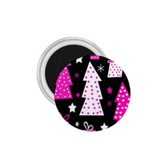 Pink Playful Xmas 1 75  Magnets by Valentinaart