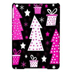 Pink Playful Xmas Ipad Air Hardshell Cases by Valentinaart