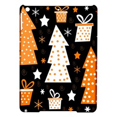 Orange Playful Xmas Ipad Air Hardshell Cases by Valentinaart