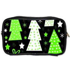 Green Playful Xmas Toiletries Bags 2 Side by Valentinaart