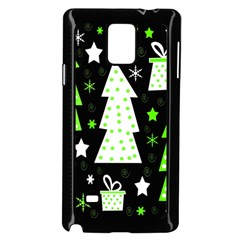 Green Playful Xmas Samsung Galaxy Note 4 Case (black) by Valentinaart