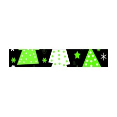 Green Playful Xmas Flano Scarf (mini) by Valentinaart