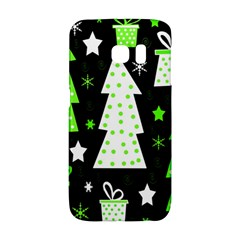 Green Playful Xmas Galaxy S6 Edge by Valentinaart