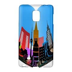 Heart Shape City Love  Galaxy Note Edge