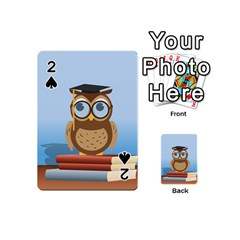 Read Owl Book Owl Glasses Read Playing Cards 54 (Mini)  by Zeze