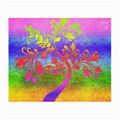 Tree Colorful Mystical Autumn Small Glasses Cloth
