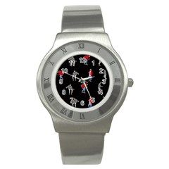 Drake Ugly Holiday Christmas Stainless Steel Watch by Onesevenart