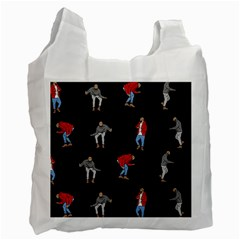 Drake Ugly Holiday Christmas Recycle Bag (two Side)  by Onesevenart