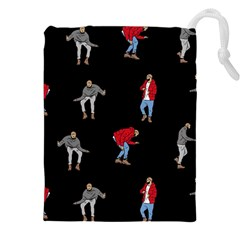 Drake Ugly Holiday Christmas Drawstring Pouches (xxl) by Onesevenart