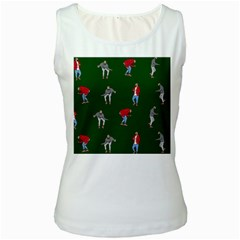 Drake Ugly Holiday Christmas 2 Women s White Tank Top by Onesevenart