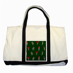 Drake Ugly Holiday Christmas 2 Two Tone Tote Bag by Onesevenart