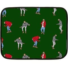 Drake Ugly Holiday Christmas 2 Fleece Blanket (mini) by Onesevenart