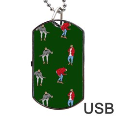 Drake Ugly Holiday Christmas 2 Dog Tag Usb Flash (two Sides)  by Onesevenart