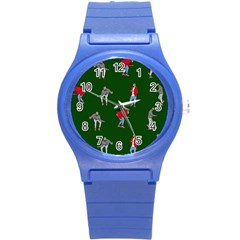 Drake Ugly Holiday Christmas 2 Round Plastic Sport Watch (s) by Onesevenart