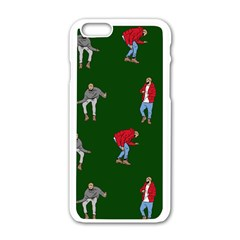 Drake Ugly Holiday Christmas 2 Apple iPhone 6/6S White Enamel Case by Onesevenart