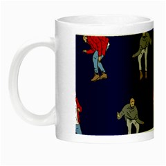Drake Ugly Holiday Christmas Night Luminous Mugs by Onesevenart