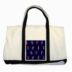 Drake Ugly Holiday Christmas Two Tone Tote Bag by Onesevenart