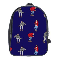 Drake Ugly Holiday Christmas School Bags(large)  by Onesevenart
