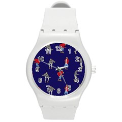 Drake Ugly Holiday Christmas Round Plastic Sport Watch (m) by Onesevenart