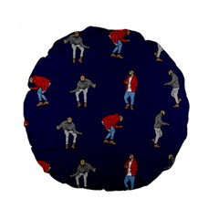 Drake Ugly Holiday Christmas Standard 15  Premium Flano Round Cushions by Onesevenart