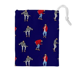 Drake Ugly Holiday Christmas Drawstring Pouches (extra Large) by Onesevenart