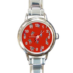 Drake Ugly Holiday Christmas   Round Italian Charm Watch by Onesevenart