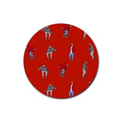Drake Ugly Holiday Christmas   Rubber Coaster (round)  by Onesevenart