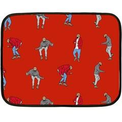 Drake Ugly Holiday Christmas   Fleece Blanket (mini) by Onesevenart