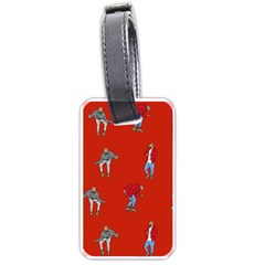 Drake Ugly Holiday Christmas   Luggage Tags (one Side)  by Onesevenart