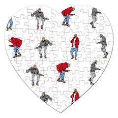 Drake Ugly Holiday Christmas Jigsaw Puzzle (heart) by Onesevenart