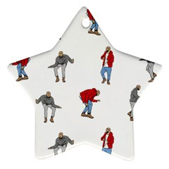 Drake Ugly Holiday Christmas Star Ornament (two Sides)  by Onesevenart