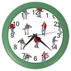 Drake Ugly Holiday Christmas Color Wall Clocks by Onesevenart