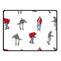 Drake Ugly Holiday Christmas Fleece Blanket (small) by Onesevenart