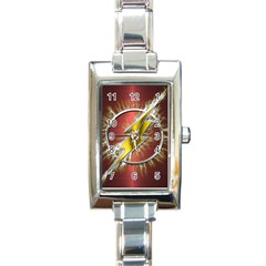 Flash Flashy Logo Rectangle Italian Charm Watch by Onesevenart