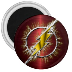 Flash Flashy Logo 3  Magnets by Onesevenart