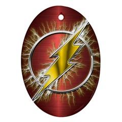 Flash Flashy Logo Ornament (oval)  by Onesevenart