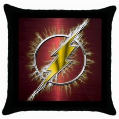 Flash Flashy Logo Throw Pillow Case (black) by Onesevenart