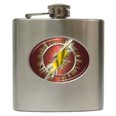Flash Flashy Logo Hip Flask (6 Oz) by Onesevenart