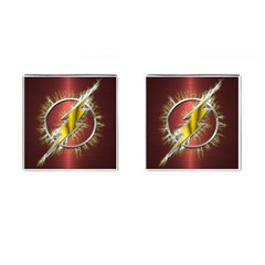 Flash Flashy Logo Cufflinks (square) by Onesevenart