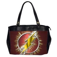 Flash Flashy Logo Office Handbags (2 Sides)  by Onesevenart