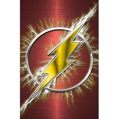 Flash Flashy Logo 5 5  X 8 5  Notebooks by Onesevenart