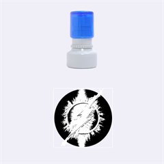 Flash Flashy Logo Rubber Round Stamps (small) by Onesevenart